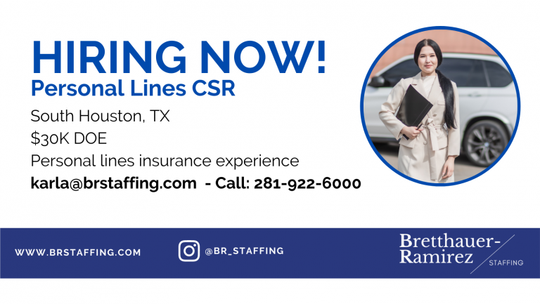 Dependable and hardworking individuals Send your resume to karla@brstaffing.com or Call 281-922-6000 (44)
