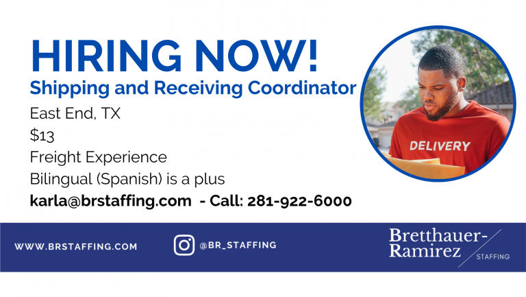 Dependable and hardworking individuals Send your resume to karla@brstaffing.com or Call 281-922-6000 (48)