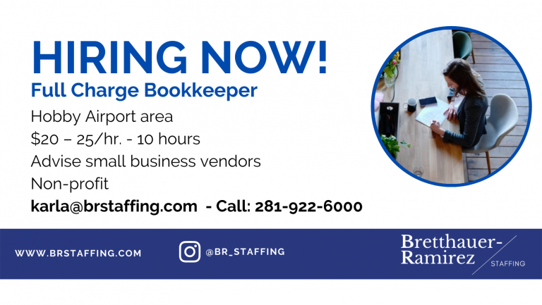 Dependable and hardworking individuals Send your resume to karla@brstaffing.com or Call 281-922-6000 (61)