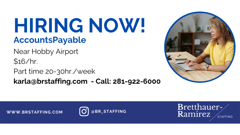 Dependable and hardworking individuals Send your resume to karla@brstaffing.com or Call 281-922-6000 (62)