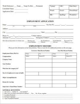 Employment Application-